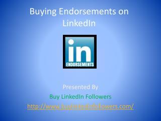 Buying Endorsements On LinkedIn