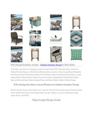 ICFA Design Excellence Awards – Outdoor Furniture Design