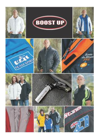 Boostup Promotional Clothing catalogue