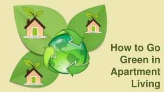 How to Go Green in Apartment Living
