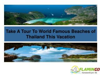 Take A Tour To World Famous Beaches of Thailand This Vacation