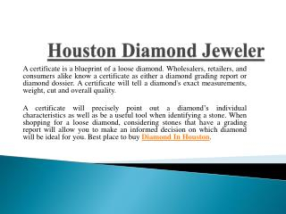 Attractive Collection Of Diamond Jewelry In Houston