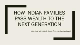 Abhijit joshi indian wealth passing interview
