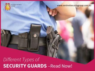 Different Types of Security Guards in Sydney