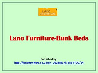 Lano Furniture-Bunk Beds