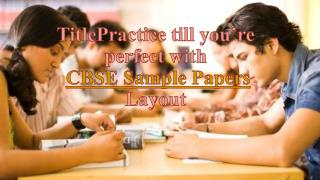 CBSE sample papers at Genext students