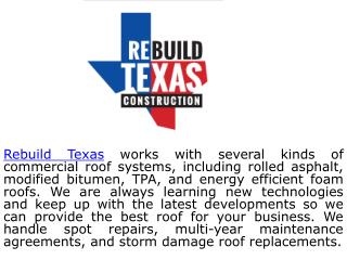 Commercial Roofing Repairs TX