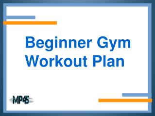 Beginner Gym Workout Plan