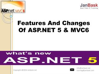 Features And Changes Of ASP.NET 5 & MVC6