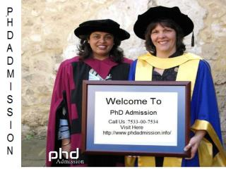 PhD admission consultants: 7533-00-7534