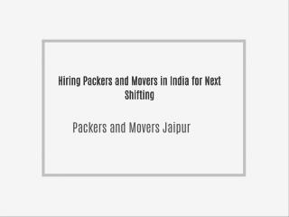 Packers and Movers Jaipur @ www.shiftingsolutions.in