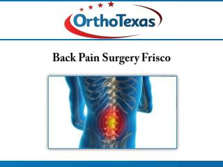 Back Pain Surgery Frisco