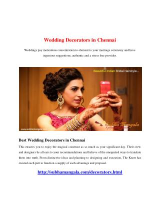 Wedding Decorators in Chennai