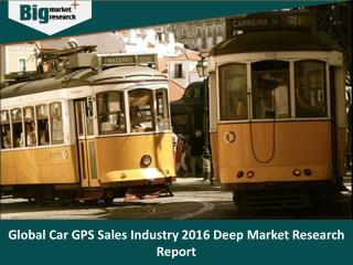 Global Car GPS Sales Industry 2016 Deep Market Research Report - Big Market Research