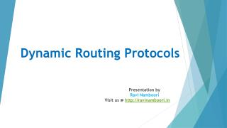 What Are Dynamic Routing Protocols