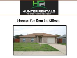 Houses For Rent In Killeen