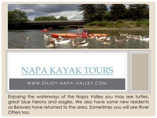 Kayak Napa Valley
