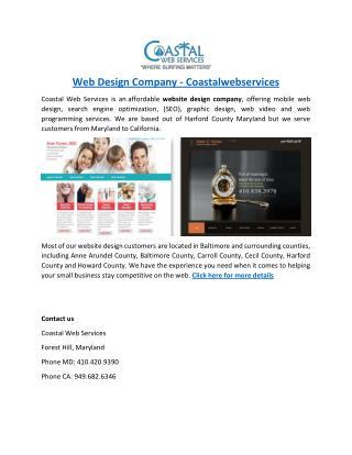 Harford County Website Designers - coastalwebservices