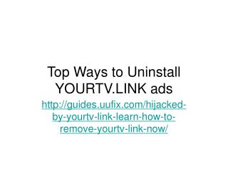 Top ways to uninstall yourtv.link ads