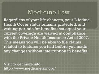 www.medicinelaw.org