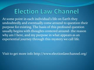 www.electionlawchannel.org