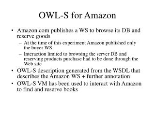 OWL-S for Amazon