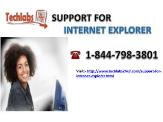 Internet Explorer 1-844-798-3801 Technical Support Phone Number