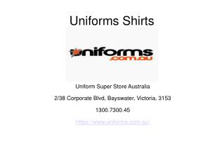 Look Out for Fabulous Shirts by Uniforms Super Store
