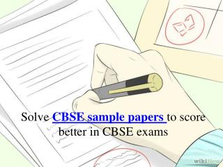 Prepare yourself with CBSE sample papers