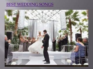 Best Wedding Songs