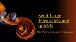 Send Large Files Quickly Through Tecnostore-Group