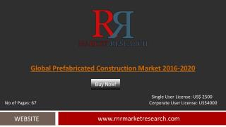 Prefabricated Construction Market 2016-2020 Global Outlook Report
