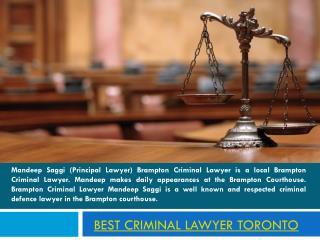 Toronto Criminal Lawyer
