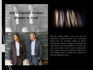 Men's common fashion mistakes to avoid