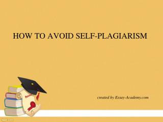 How to avoid self-plagiarism