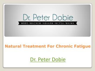 Natural Treatment For Chronic Fatigue
