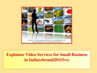 Explainer Video Services for Small Business in India(ebrand20115vs)