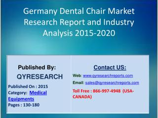 Germany Dental Chair Market 2015 Industry Growth, Outlook, Development and Analysis
