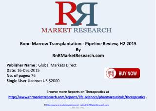 Bone Marrow Transplantation Pipeline Review H2 2015