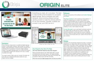 Digital Signage Solutions - Digital Displays | Origin Digital Signage