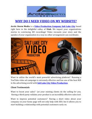 WHY DO I NEED VIDEO ON MY WEBSITE?