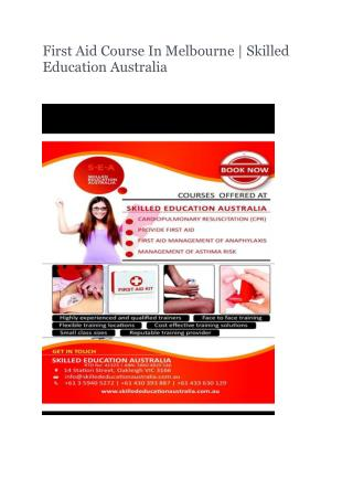 Ppt First Aid Course In Melbourne Skilled Education Australia Powerpoint Presentation Id 7285889