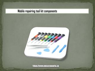 Mobile repairing tool kit components