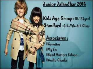 Junior Jalandhar Smart Kid 2016 Presented By Cornitos