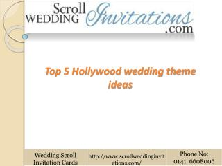 Top 5 Hollywood wedding theme ideas