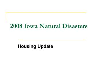 2008 Iowa Natural Disasters