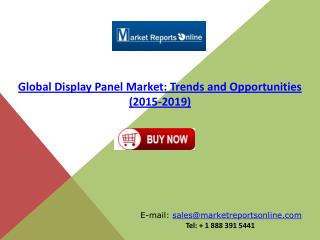 2019 Display Panel Market Global Trends and Forecasts Analysis