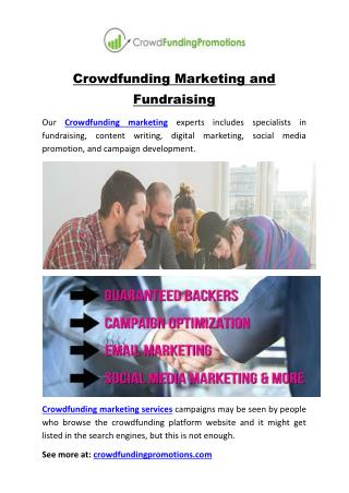 Crowdfunding Marketing and Fundraising