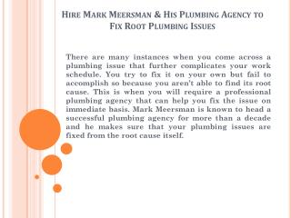 Mark Meersman Plumbing Agency