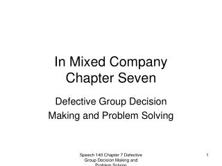 In Mixed Company  Chapter Seven